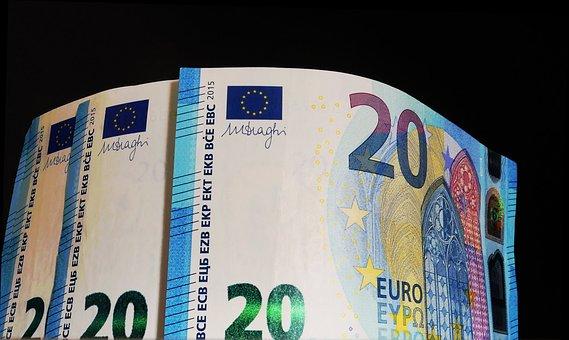 Euros, Money, Bills, Banknotes, Finance, Currency, Cash