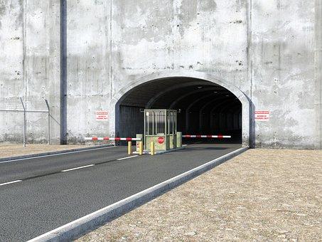 Tunnel, Architecture, Passage, Concrete, Goal, Barriers