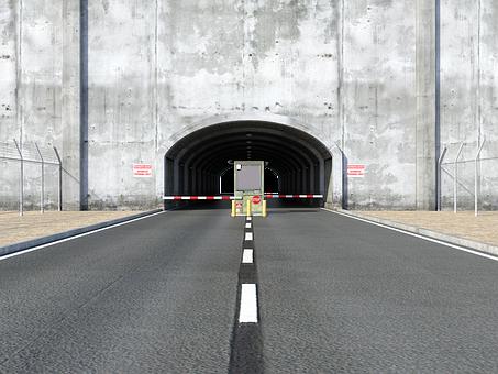 Tunnel, Passage, Wall, Corridor, Concrete, Traffic