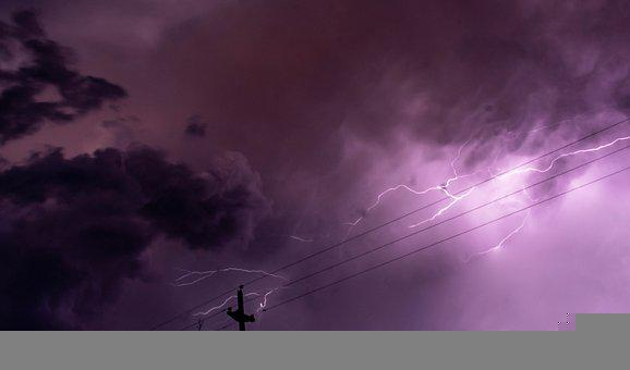 Storm, Cables, Sky, Dark, Climate, Electricity, Energy