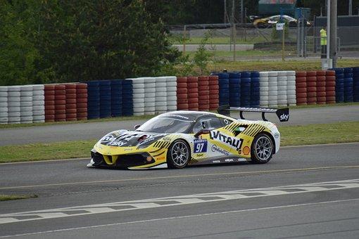 Ferrari 488, Racing Car, Race Track, Car, Fast Car