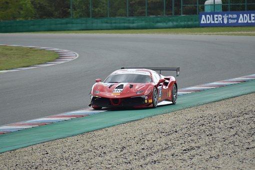 Ferrari 458, Racing Car, Race Track, Vehicle, Auto