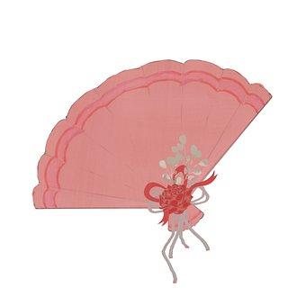 Hand Fan, Rose, Decorative, Fan, Flower, Bow, Ribbon