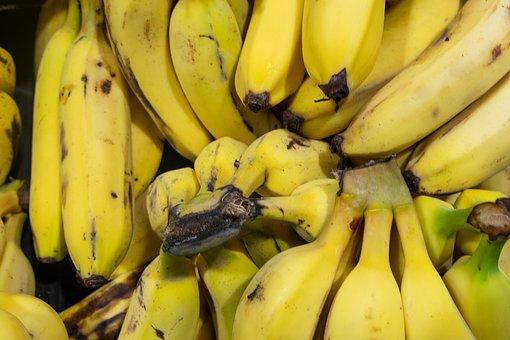 Bananas, Yellow, Fruits, Fresh, Produce, Harvest