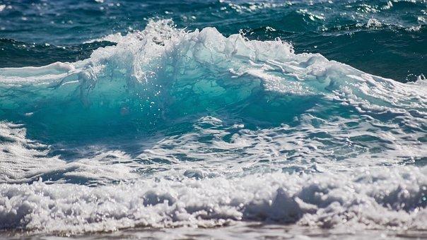 Wave, Surf, Sea, Water, Spray, Splash, Nature, Wind