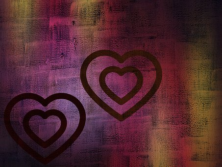 Hearts, Colorful, Texture, Pattern, Love, Wood