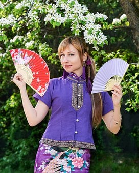 Woman, Model, Portrait, Costume, Chinese Costume