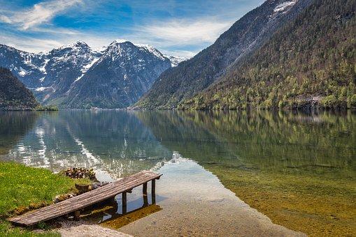 Lake, Mountains, Reflection, Water Reflection