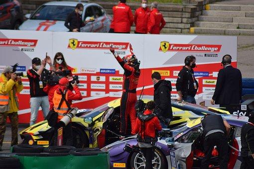 Ferrari, Champion, Racing, Winner, Race Track, Car