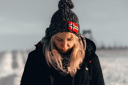 Winter, Women, Snow, Sad, Depression, Mind, Alone