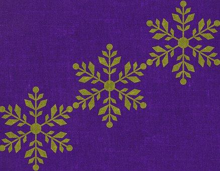 Snowflake, Print, Texture, Winter, Pattern, Linen