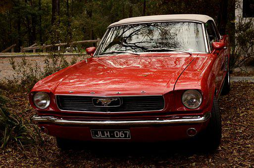 Car, Ford, Vintage, Auto, Automobile, Vehicle, Red Car