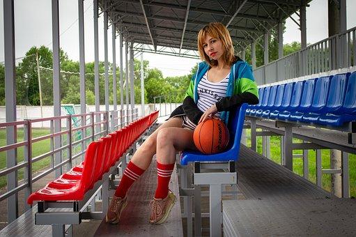 Basketball, Ball, Woman, Game, Training, Sports