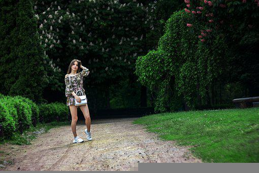 Girl, Nature, Sexy, Trees, Happiness, Summer, Spring