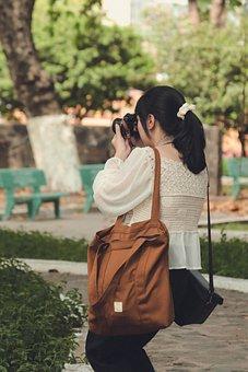 Photographer, Girl, Retro, Saigon, Street Style