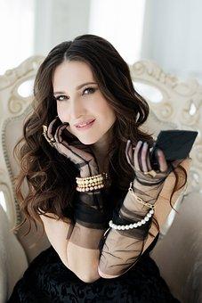 Woman, Fashion, Makeup, Mirror, Jewelry, Bracelet