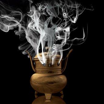 Smoke, Incense, Religion, Faith, Buddhist, Ritual, Cult