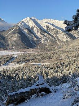 Snowing, Mountain, Mountains, Snow, Landscape, Nature