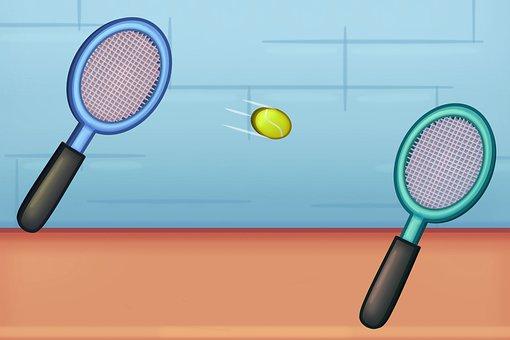 Tennis, Sport, Sports Team, Tennis Racket, Racket, Ball
