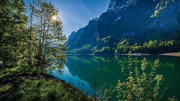 Bergsee, Mountains, Lake, Switzerland, Nature