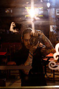 Photo, Tattoo, Photographing, Boy Photographing