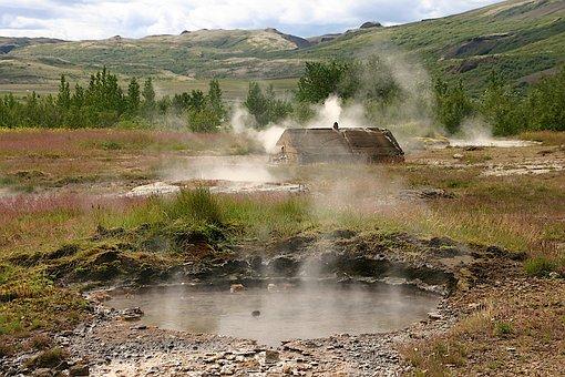 Geyser, Iceland, Steam, Landscape, Hot, Volcanic