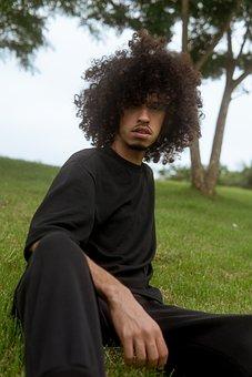 Man, Portrait, Afro Hair, Face, Person, Male, Adult