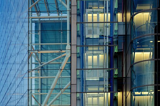 Office Building, Elevator, Architecture, Building
