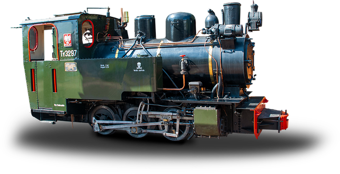 Locomotive, Polish Steam Locomotive, Authentic