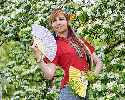 Thai Clothing, Woman, Fashion, Thai Dress, Fan, Girl
