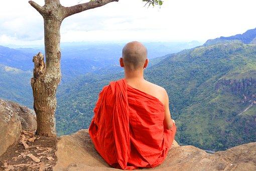 Monk, Buddhist Monk, Landscape, Nature, Worlds End