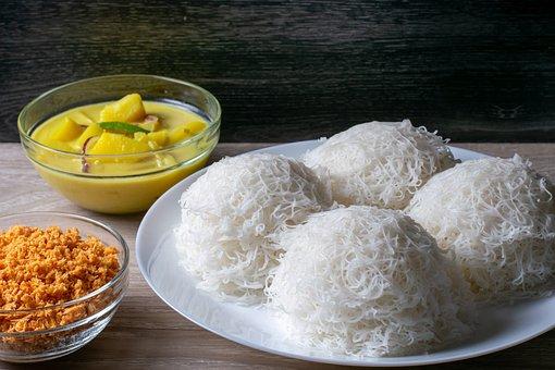 Indiappa, Food, Cuisine, Idiyappam, Sri Lankan