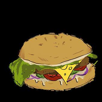 Burger, Fast Food, Meal, Snack, Food, Dish
