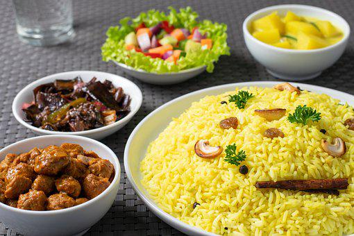 Rice, Meal, Dish, Asian, Cuisine, Food, Curry