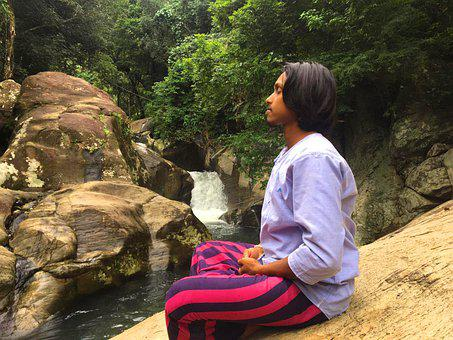 Meditate, River, Forest, Meditation, Youth, Young Guy