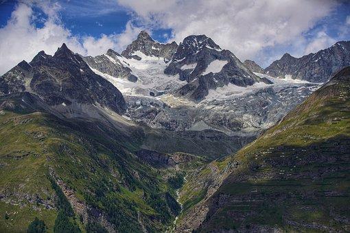 Mountains, Summit, Landscape, Snow, Peak