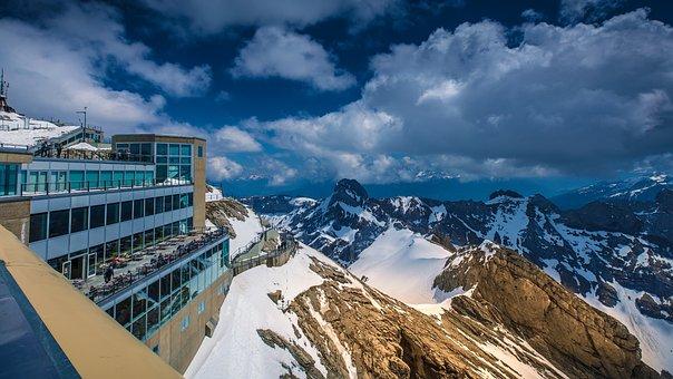 Mountains, Summit, Rock, View, Landscape