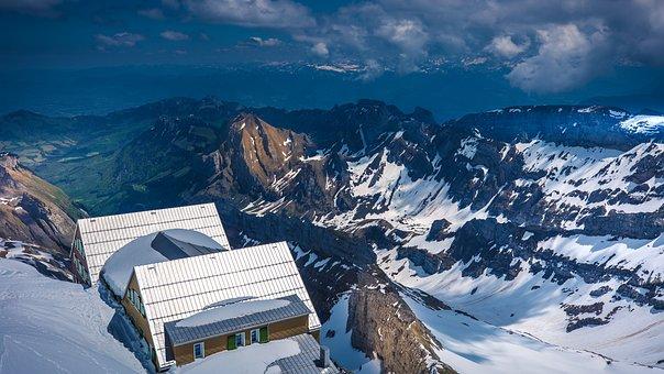 Säntis, Appenzell, Mountains, Landscape, Lake Constance