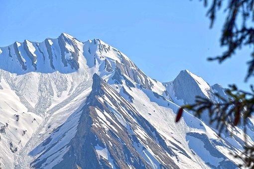Mountains, Peak, Snow, Entlebuch, Switzerland
