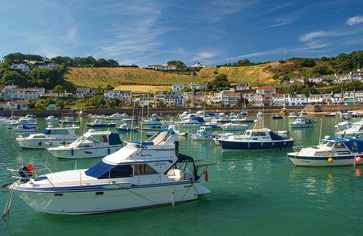 Port, Yachts, Jersey, Town, Bay, Sea, Ocean, Boats