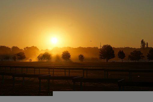 Sunrise, Road, Route, Race Track, Car Racing, Parking