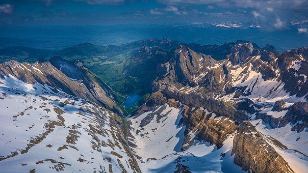 Mountains, Rocks, Snow, Summit, Hiking, Lake Constance