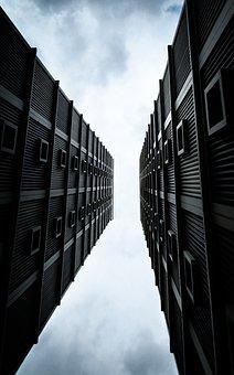Building, Concrete, Tall, Sky, Home, Singapore