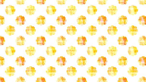 Orange, Autumn, Floral, Wallpaper, Pattern, Background