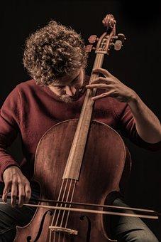 Cello, Music, Man, Cellist, Playing Cello
