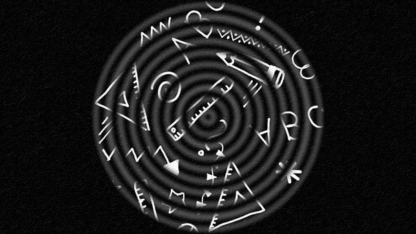 Education, Doodle, Circles, Black, Pattern