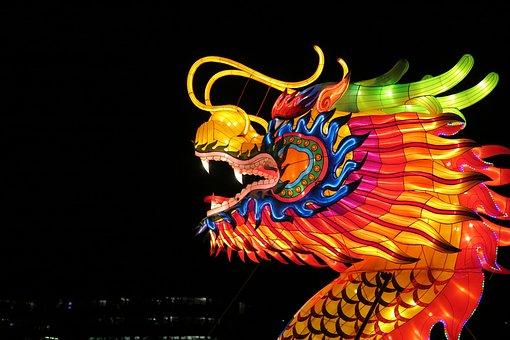 Lantern, Dragon, Chinese