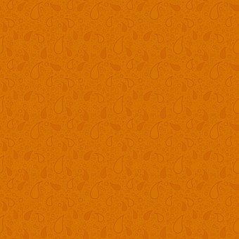 Oriental, Eastern, Paisley, Orange, Abstract, Autumnal