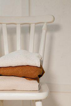 Chair, Blanket, Folded, Wool, Pile, Quilt, Plaid