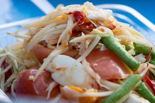 Papaya Salad, Spicy, Food, Thai Food, Salad, Dish
